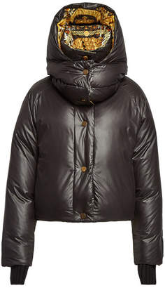 Versace Down Jacket with Wool