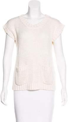 Les Prairies de Paris Knit Short Sleeve Top