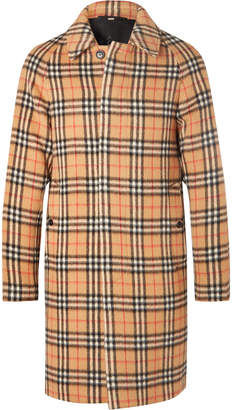 Burberry Checked Alpaca and Wool-Blend Coat