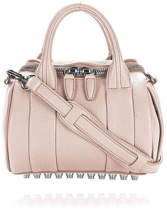 Alexander Wang Mini Rockie In Soft Pebbled Pale Pink With Rhodium
