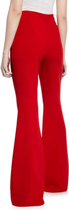 Michael Kors Wool-Crepe Side-Zip Pants, Crimson