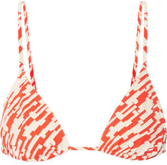 Eres Mouna Printed Triangle Bikini Top - Bright orange