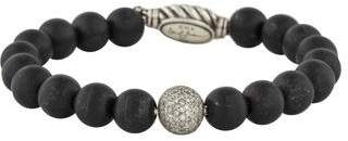 David Yurman Onyx & Diamond Spiritual Beads Bracelet