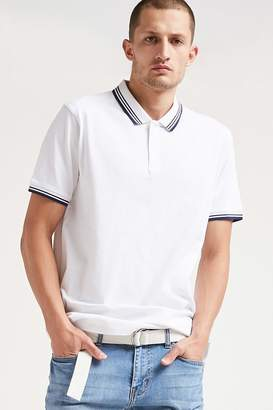 Forever 21 Striped Polo Shirt