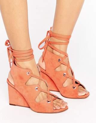 Asos Design TASTE Lace Up Sandals