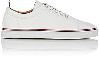 be5774a15698 Thom Browne Men s Cap-Toe Grained Leather Sneakers - White
