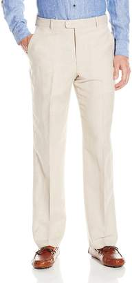 Perry Ellis Men's Portfolio Classic Fit Flat Front Washable Linen Pant