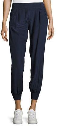 ATM Anthony Thomas Melillo Cropped Pants W/ Elastic Cuffs $275 thestylecure.com