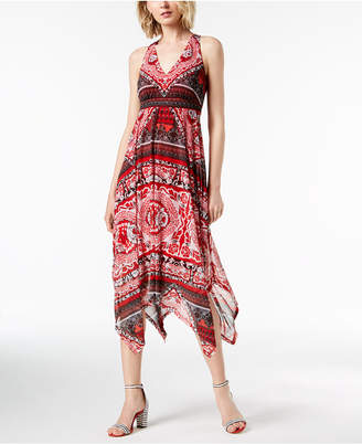 INC International Concepts I.N.C. Printed Handkerchief-Hem Midi Dress, Created for Macy's