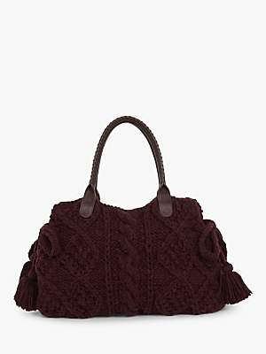 Gerard Darel Marylin Cable Knit Bag, Purple