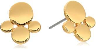 "Diane von Furstenberg Summer Disco"" Circle Cluster Stud Earrings"
