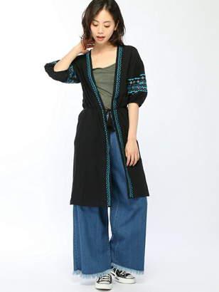 Dukkah (ドゥカ) - Dukkah (L)エスニック刺繍ロングガウン ウィゴー ニット