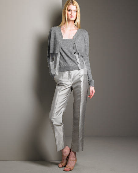 Marc Jacobs Half-Clear Cashmere Shell