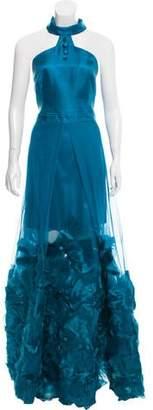 John Paul Ataker Halter Evening Dress w/ Tags