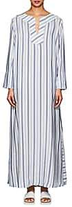 Thierry Colson Women's Samia Striped Silk Caftan - Heaven Blue, Navy