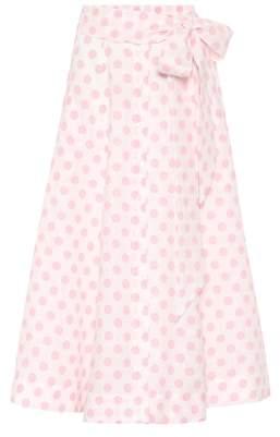 Lisa Marie Fernandez Polka-dot linen skirt