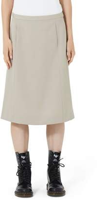 Marc Jacobs Wool A-Line Skirt