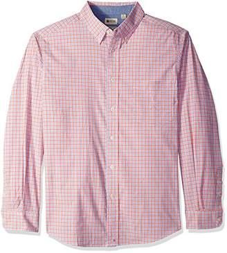 Haggar Men's Big&Tall Long Sleeve Poplin Shirt with Stretch
