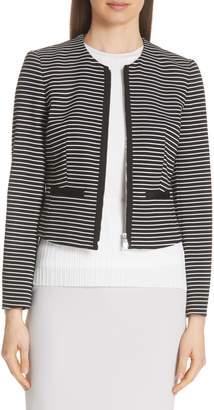 BOSS Kubina Stripe Knit Jacket
