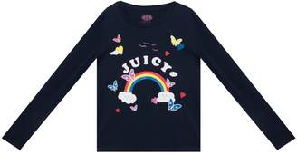 Juicy Couture Rainbow Love Long Sleeve Tee for Girls