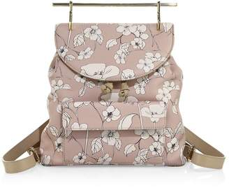 M2Malletier Women's Flower-Print Leather Mini Backpack