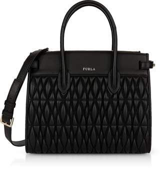 Furla Quilted Nappa Leather Pin Cometa S E/W Tote Bag