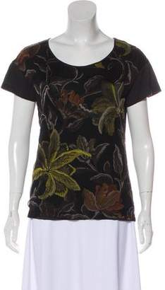 Dries Van Noten Floral Print Short Sleeve Top