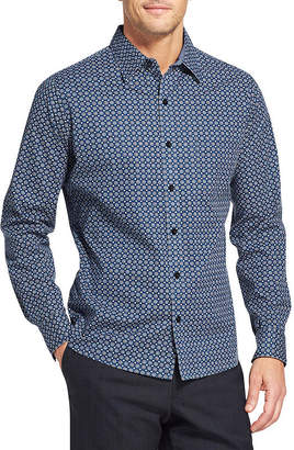 Van Heusen Never Tuck Long Sleeve Button-Front Shirt