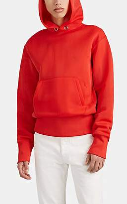 Helmut Lang Men's Logo-Embroidered Tech-Jersey Hoodie - Red