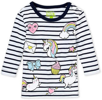 Kapital K (Infant Girls) Stripe Unicorn Tee