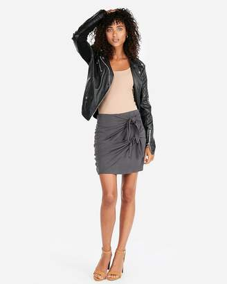 Express Ribbed Double Knot Ribbed Skirt
