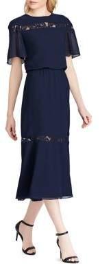 Lauren Ralph Lauren Lace-Trim Chiffon Dress