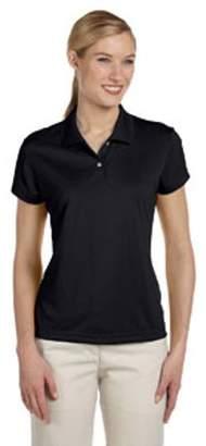adidas Ladies' climalite Short-Sleeve Pique Polo - BLACK/ WHITE - XL A122