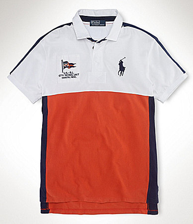 Polo Ralph Lauren Big & Tall Classic-Fit Big Pony Coastal Rescue Polo Shirt
