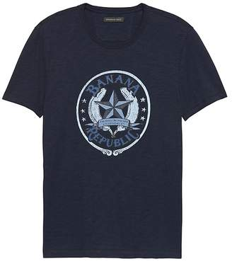 Banana Republic Soft-Wash Logo Crew-Neck T-Shirt