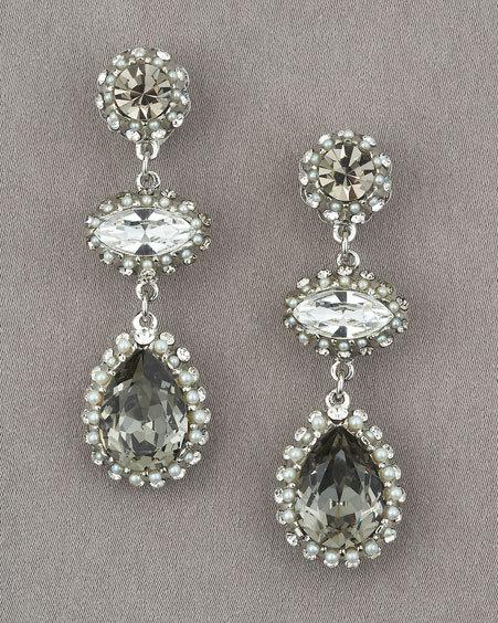 Jose & Maria Barrera Triple Drop Earrings