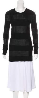 Alexander Wang Semi-Sheer Knit Long Sleeve Top