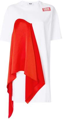 MSGM scarf detail T-shirt dress