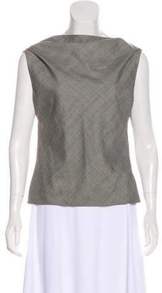 Gianni Versace Wool Plaid Top