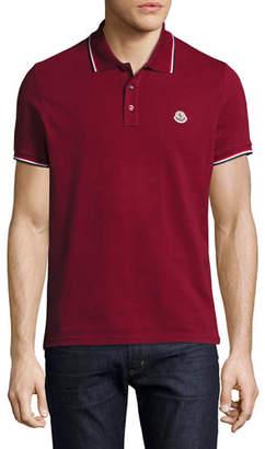 Moncler Tipped Piqué Polo Shirt $190 thestylecure.com