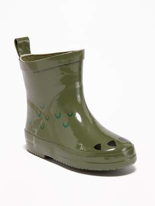 Old Navy Rubber Dinosaur-Graphic Rain Boots for Toddler Boys