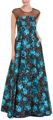 Sachin + Babi Noir Silk-Trim Gown