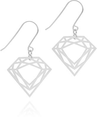 Myia Bonner Silver Classic Diamond Earrings