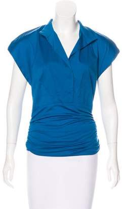 Akris Punto Collared Sleeveless Top