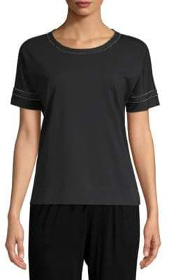 Lafayette 148 New York Solid Cotton-Blend Tee