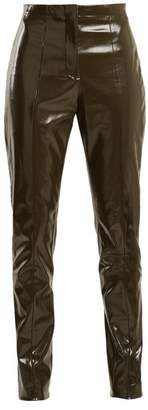Acne Studios Tugi Vinyl Trousers - Womens - Dark Grey