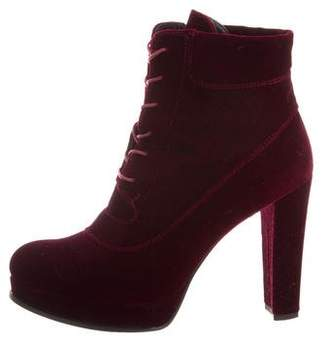 Stuart Weitzman Ruggina Velvet Ankle Boots