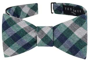Ted Baker Gingham Silk Blend Bow Tie