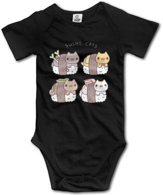 HYstyless Kawaii Sushi Cats Romper Unique Baby Onesies Short Sleeve Bodysuit Outfits