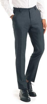 Good Man Brand Flat Front Stretch Wool Blend Trousers